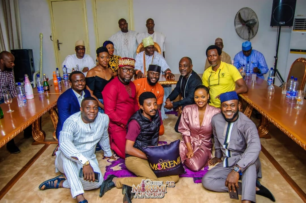 Cast of Moremi The Musical Visit to Ooni of ife