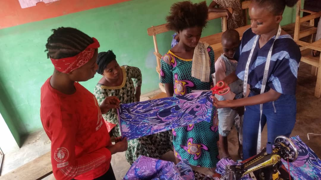 Queen Moremi Ajasoro Initiative empowerment of Seed of Abraham Physically Challenged Foundation with tailoring tools and materials