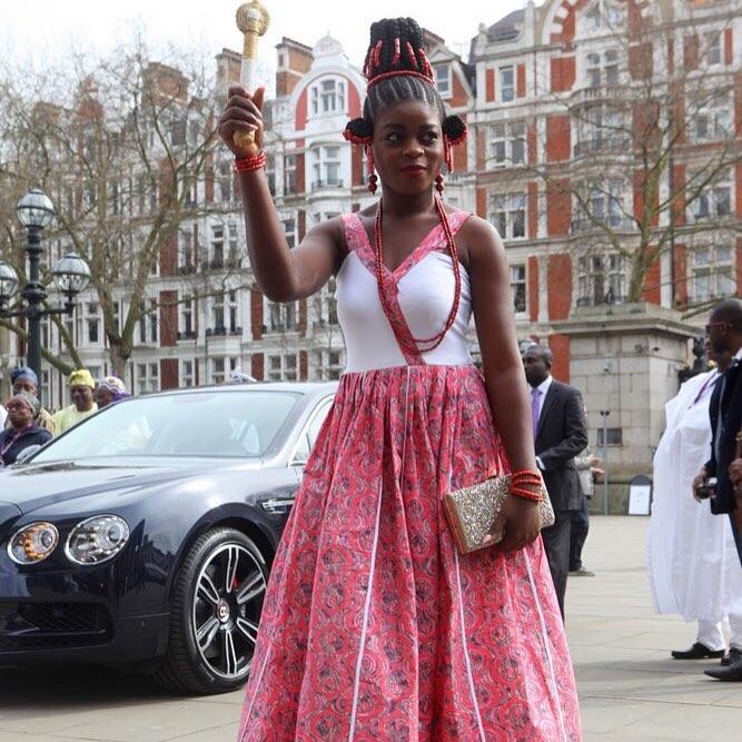 Queen Blessing Animashaun  (QMA QUEEN 2016/2017) in London