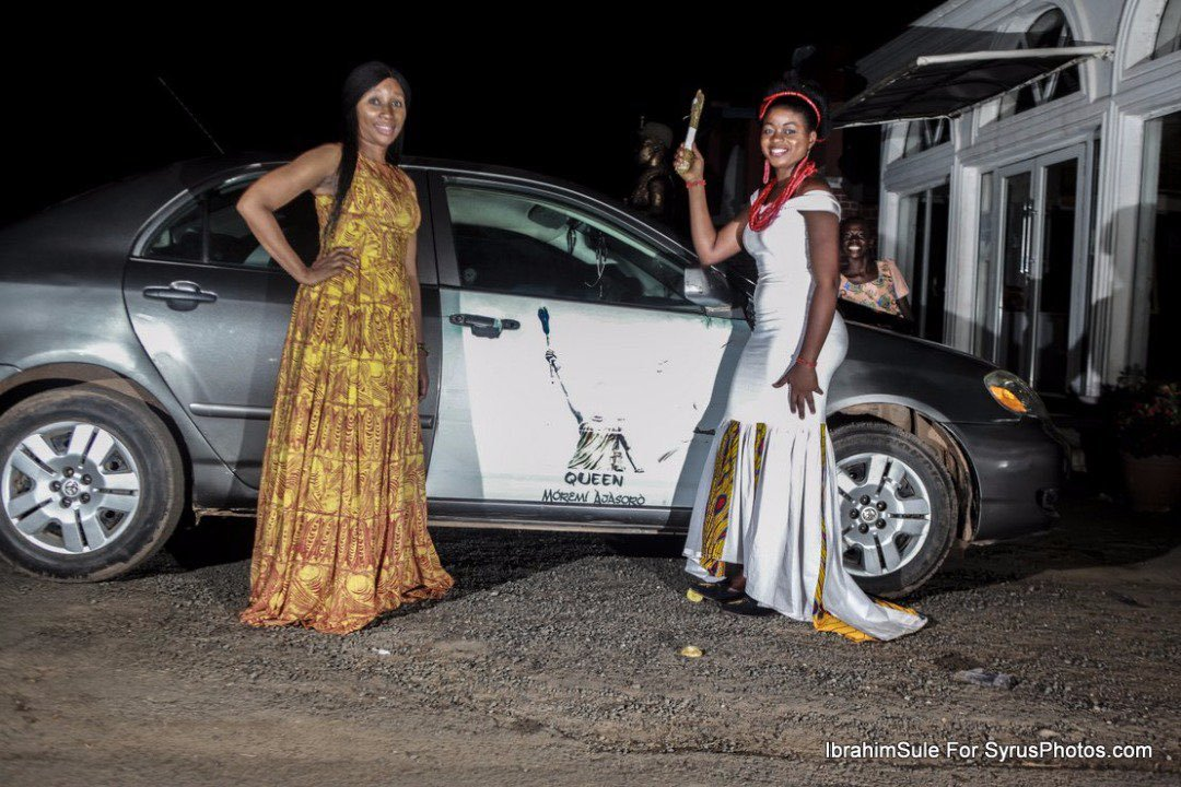 Queen Blessing Animashaun (QMA Queen 2016/2017) receiving her car